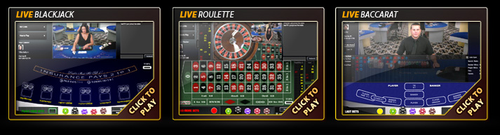 Live Dealer Games: Blackjack, Roulette and Baccarat